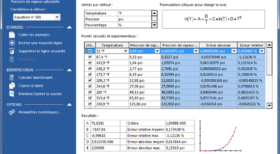 Régression des données - calculs thermodynamiques - génie chimique