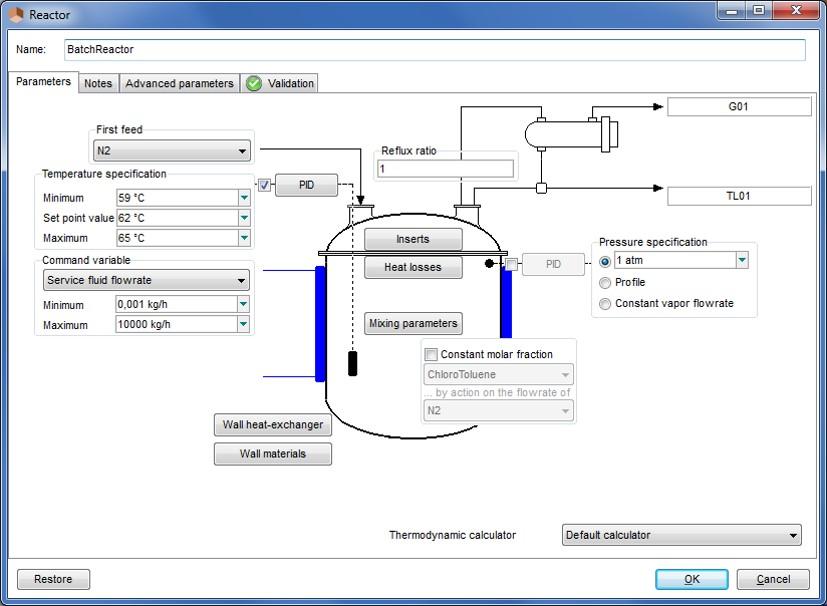 Batch Process Modeling Prosim