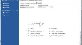 Description des réactions chimiques - logiciel modélisation et calculs