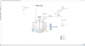 simualtion réacteur en mode batch chimie et pharmacie