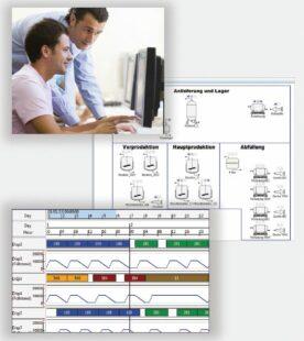 Simuler le flux de matières dans les centres de production mono ou multi-produits.