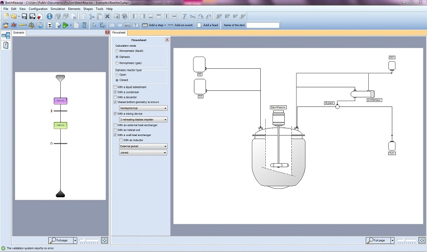 batch reactor simulation interface